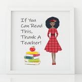 Thank A Teacher Printable Art