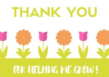 Thank A Teacher! Teacher Appreciation Notes/Cards
