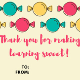 Thank A Teacher! Teacher Appreciation Day/Week Cards