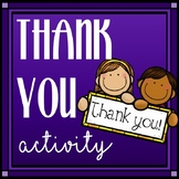 Thank You Activity for Teachers and Other Professionals