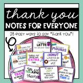 Thank You Appreciation Notes