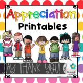 Appreciation Printables   Say Thank You! Rainbow Edition