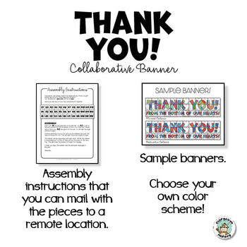 Thank You Banner Collaborative Poster
