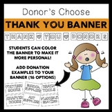 Thank You Banner- Donor's Choose