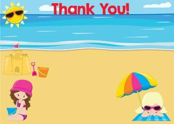 Thank You - Beach Theme Girl