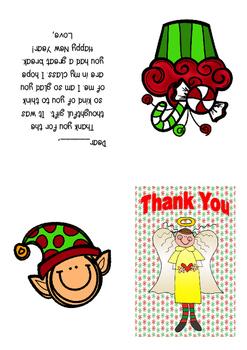 Thank You Card Chritmas