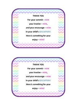 Thank You Card - Parent/Teacher Interviews/Open Night