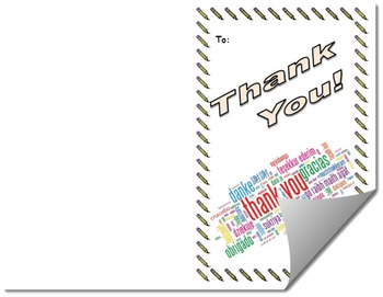 Thank You Card Printable Template