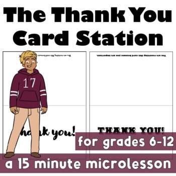 Back to School: Thank You Card Station