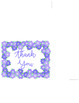 Thank You Card (purple flowers)