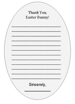 Thank You Card to the Easter Bunny (Free!)