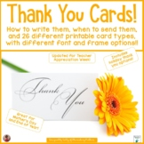Thank You Cards   Including Instruction on How and When to