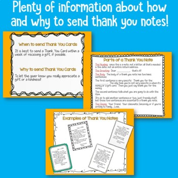 Thank You Cards   Including Instruction on How and When to Write Them