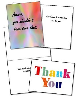 Thank You Cards - 1st Collection