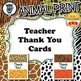 Thank You Cards - Animal Print - ZisforZebra - Editable!