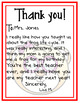 Thank You Cards -- Bear Theme -- Perfect for Teacher Appreciation Week!