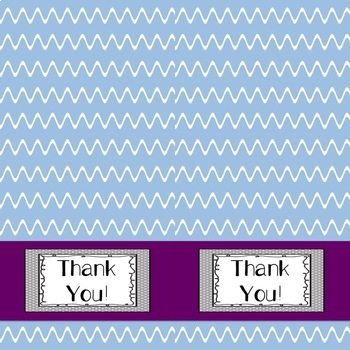 Thank You Cards, Blank Inside