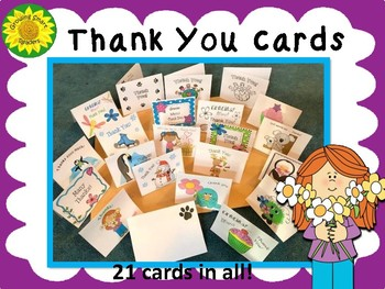 Thank You Cards--Blank Inside for Your Message