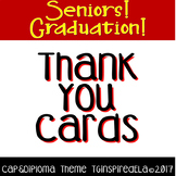 Thank You Cards: Cap & Diploma--Graduation, Teacher Appreciation, End-of-Year!