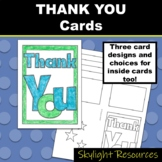 Thank You Cards - Coloring and Writing