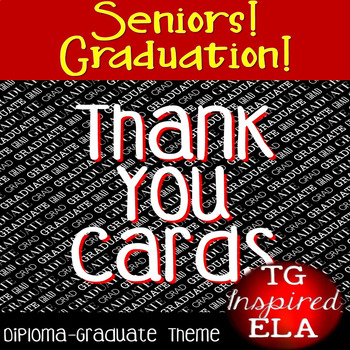 Thank You Cards:Diploma/Graduate--Graduation/Teacher Appreciation/End-of-Year!