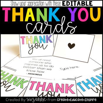 Thank You Cards (EDITABLE)
