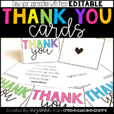 Thank You Cards (EDITABLE)