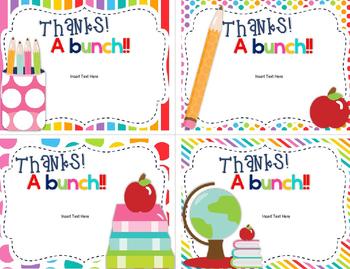 Thank You Cards-Editable Set 2