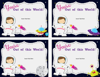 Thank You Cards-Editable-You're Out of this World