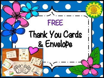Thank You Cards & Envelope- Foldables