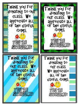 Thank You Cards (For Parents)