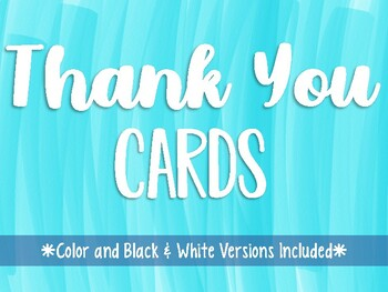 Thank You Cards & Notes Color and Black and White