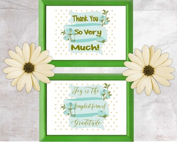Thank You Cards :One Style,Two Different Sentiments