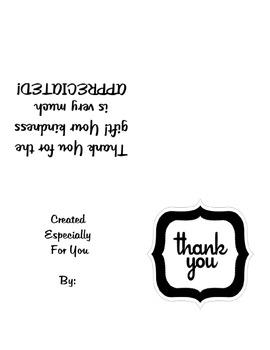 Thank You Cards- Quarter Fold