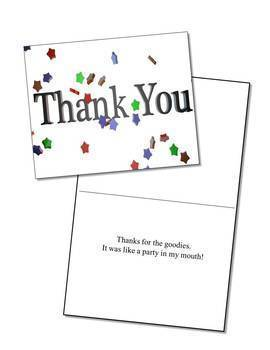 Thank You Cards Sample