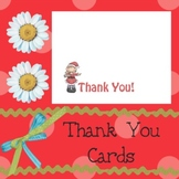 Thank You Cards: Santa Girls