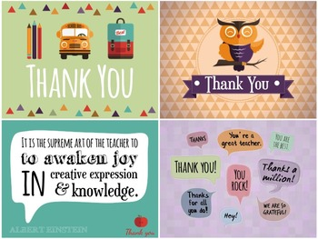 Thank You Cards & Tags for Teachers