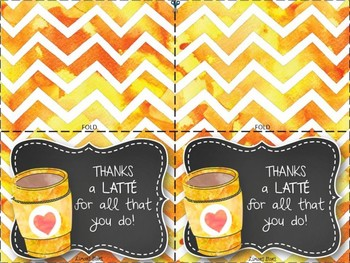Thank You Cards:  Thanks a Latte