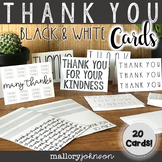 Thank You Cards - black and white