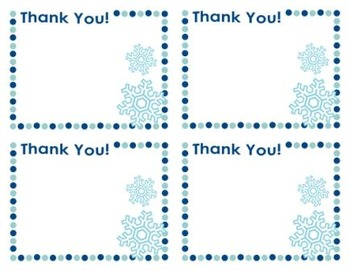 Thank You Cards for Christmas and Winter