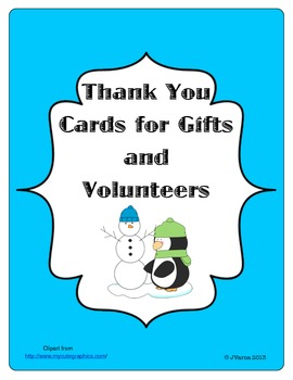 Thank You Cards for Gifts and Volunteers