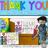 Thank You Cards for Medical Staff  - Distance Learning