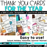 Printable Thank You Cards Notes From Teacher to Students with Digital