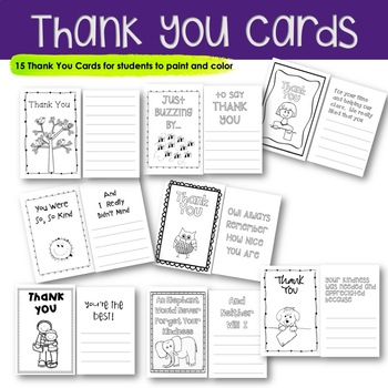 Thank You Cards | Primary Learners | Read, Color, Paint & Send