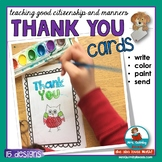Thank You Cards | Primary Learners | Read, Color, Paint | Teaching Citizenship
