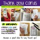 Thank You Cards for Primary Learners to Read, Color, Paint