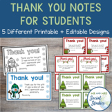 Thank You Cards for Students for Christmas Gifts | Printable + Editable Versions
