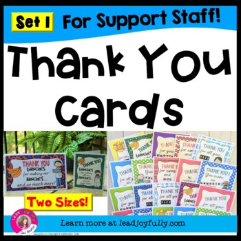 Thank You Cards for Support Staff (Set 1)