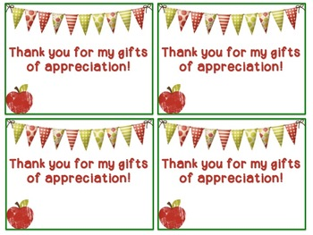 Thank You Cards For Teacher Appreciation Week Editable Tpt