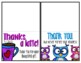 Thank You Cards from the Teacher